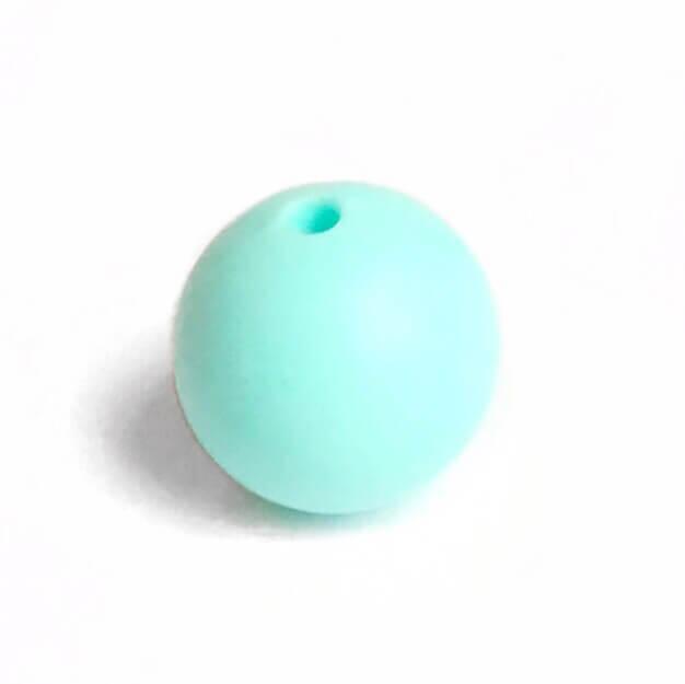 15мм (тиффани) круглая, силиконовая бусина