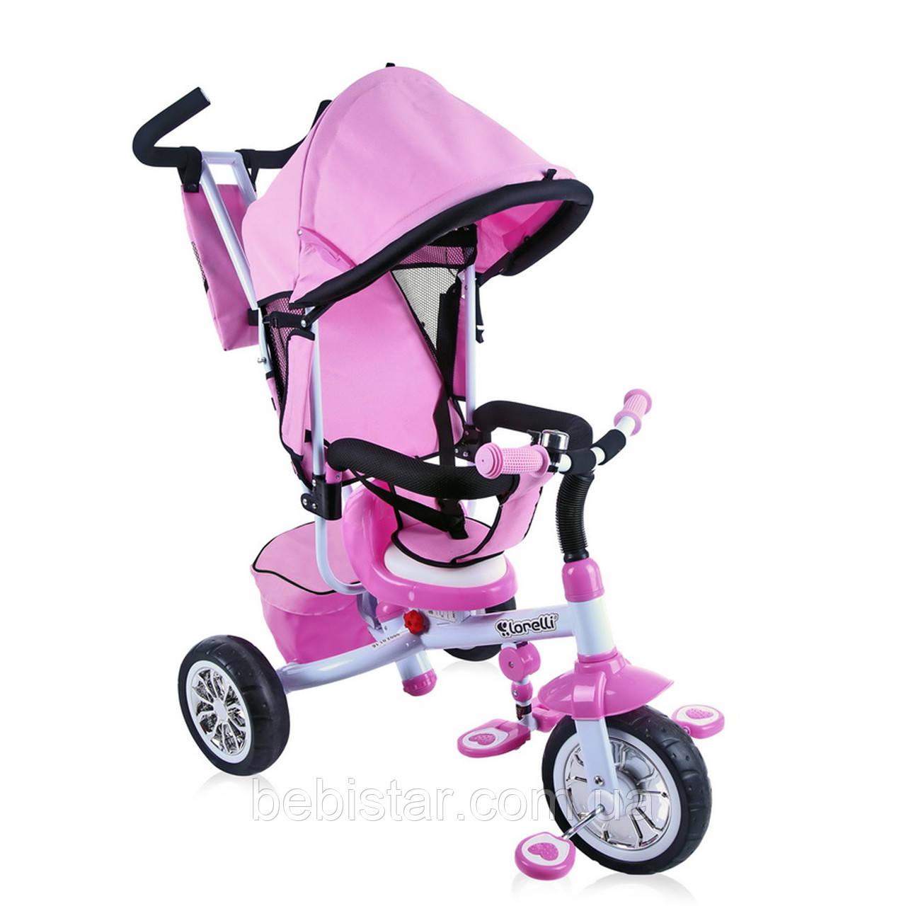 Трехколесный велосипед розовый Lorelli