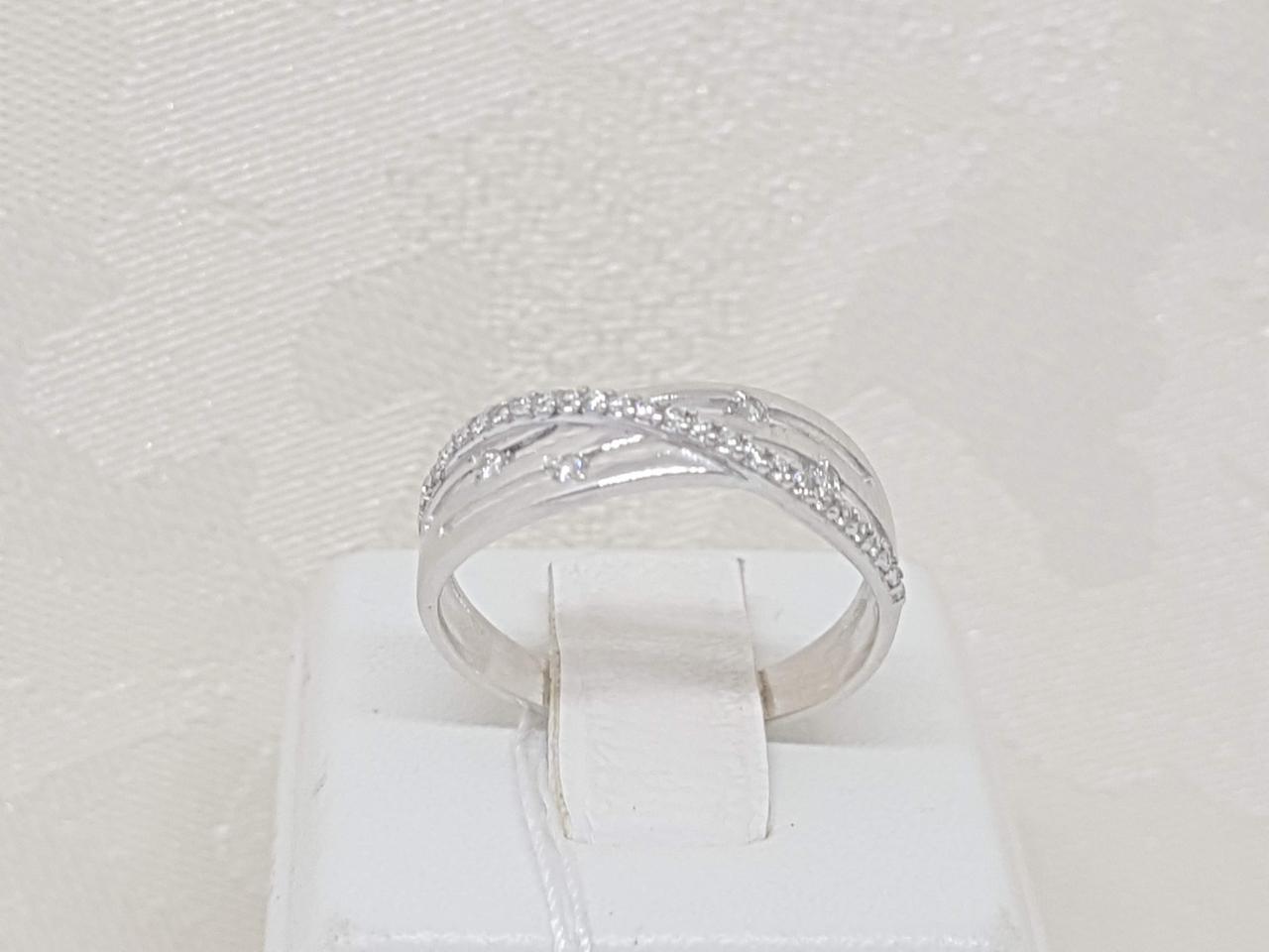 Серебряное кольцо Феррара с фианитами. Артикул 1206/1Р-CZ 18