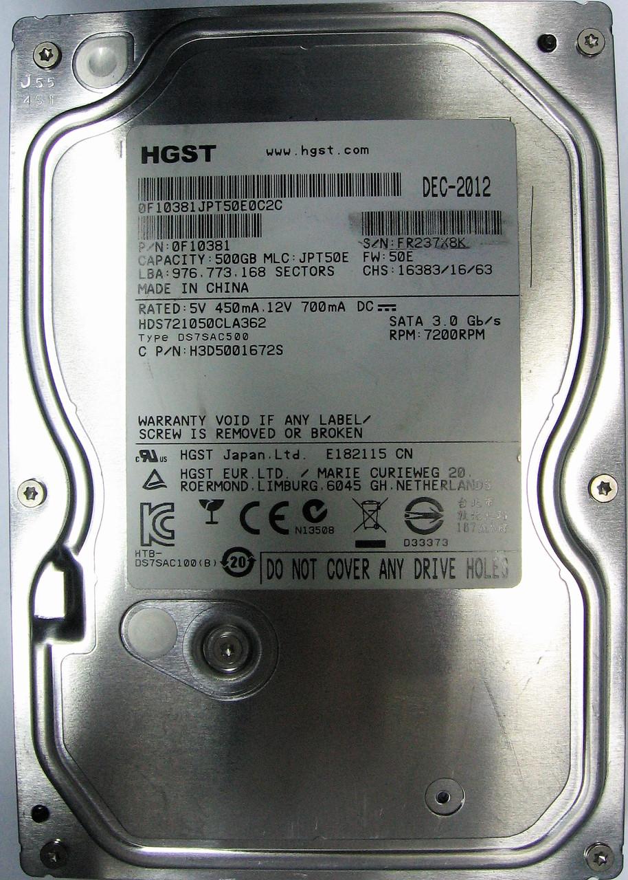 HDD 500GB 7200rpm 16MB SATA II 3.5 Hitachi HDS721050CLA362 FR237X8K