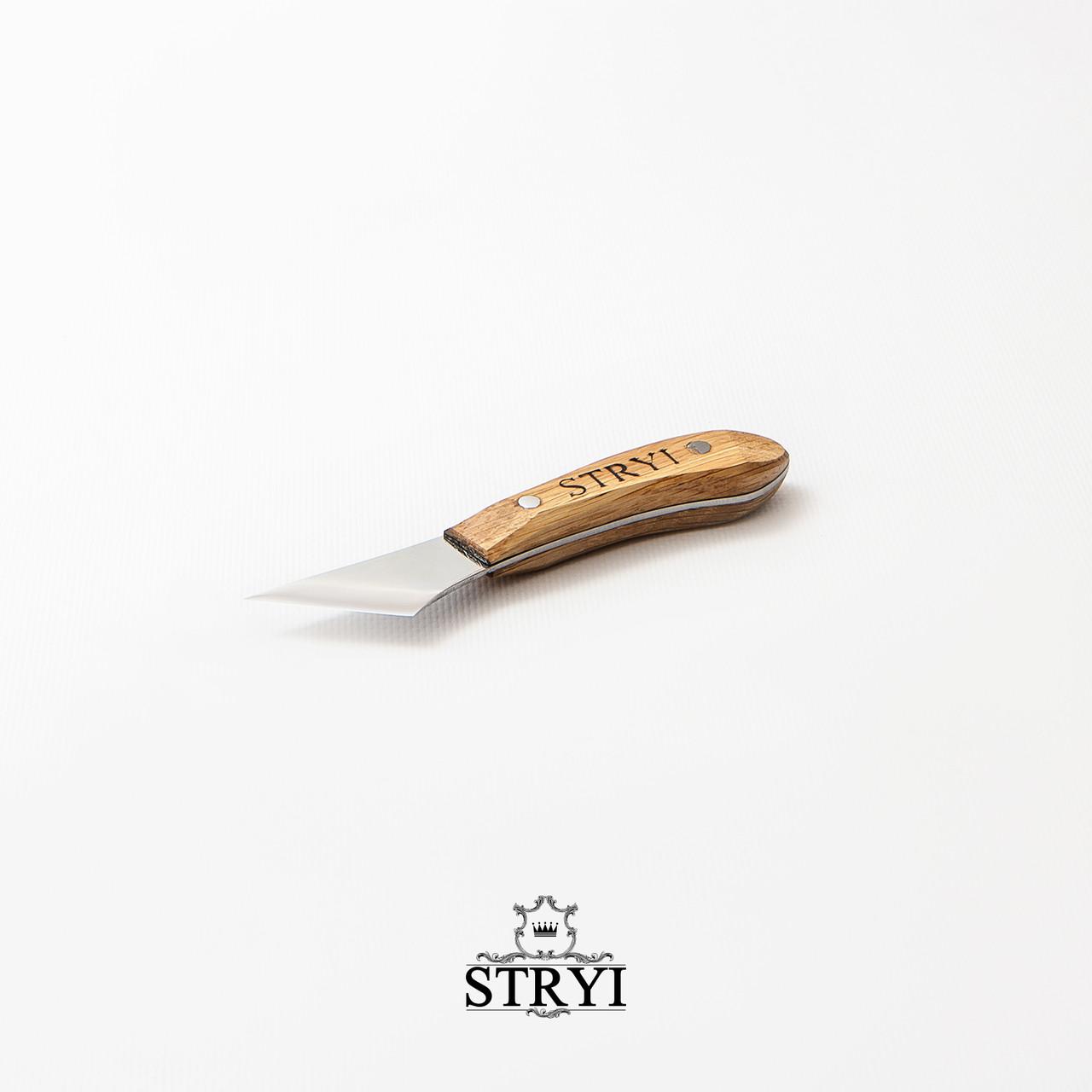 Фигурный нож-косяк, 30 градусов 40мм для резьбы по дереву от производителя STRYI