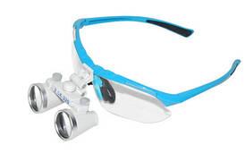 Очки бинокулярные с подсветкой №1 голубые, увеличение x3.5