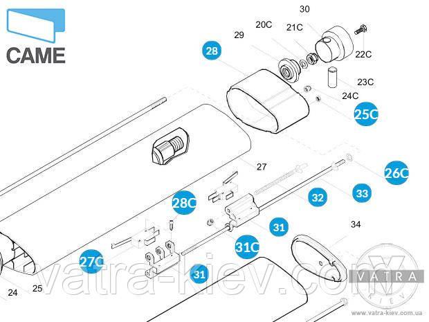 Концевые выключатели Came Krono-300 мотора Krono-310