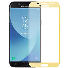 Защитное стекло 5D Samsung J4 2018 (J400)  Золото