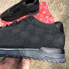 Мужские кроссовки Louis Vuitton Run Away Sneakers Black, фото 3