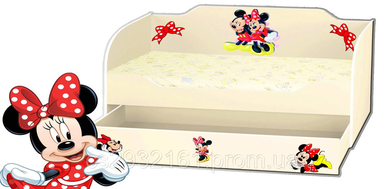 Кровать для девочки с ящиком серия Kinder Cool