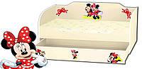 Кровать для девочки с ящиком серия Kinder Cool, фото 1