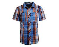Летняя рубашка в клеточку для мальчика; 98, 104, 110, 116 р-р