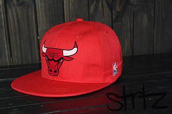 Снепбек Chicago Bulls красного цвета (люкс копия)