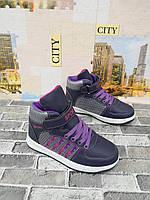 d1270606 Детские высокие кроссовки для девочки экокожа Tom.m (Boyang) 31-38 р