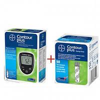 Глюкометр Bayer CONTOUR® PLUS + Тест-полоски CONTOUR® PLUS №50 Обменный!