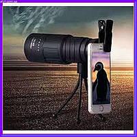 Монокуляр Panda 40x60 с треногой и клипсой для телефона