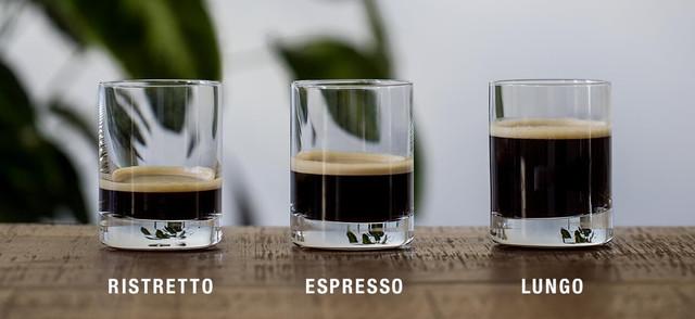 разница между видами кофе ристретто, эспрессо и лунго