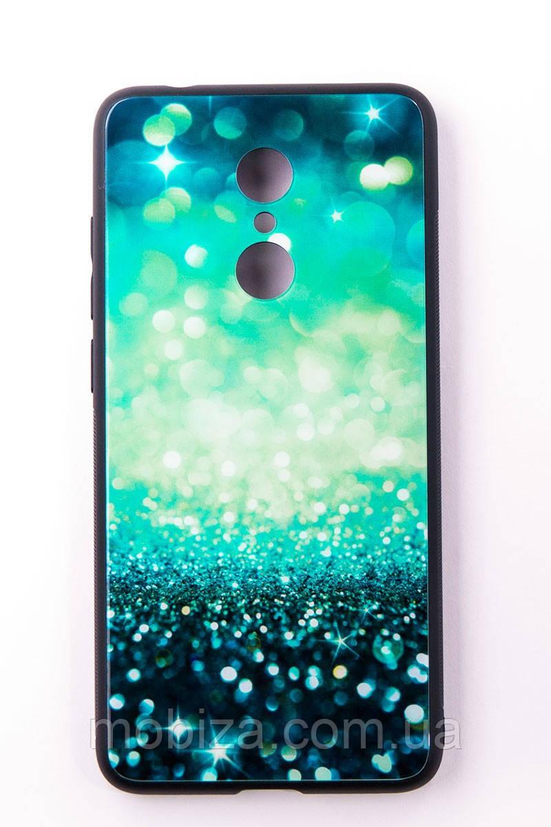"""Чохол-панель Dengos (Back Cover) """"Glam"""" для Xiaomi Redmi 5, блакитно-м'ятний калейдоскоп"""