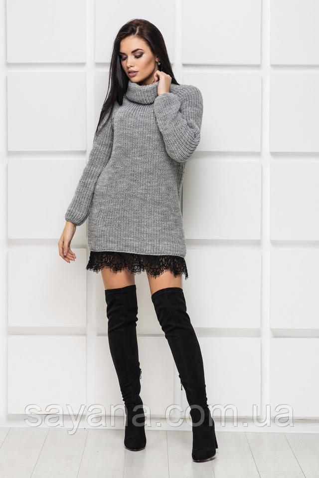 женская вязаное платье