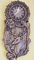 Часы настенные деревянные 390*185*25мм от производителя, фото 1