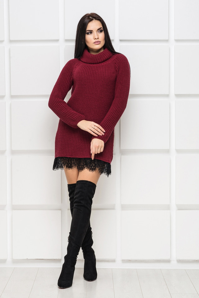 женское вязаное платье интернет