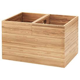 IKEA DRAGAN (502.818.56) Коробка, 3 шт., Бамбук