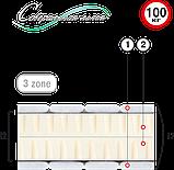 Односпальний матрац Осам Лайт (Велам) 90х190х17см безпружинний латекс 3 зони до 100кг, фото 2