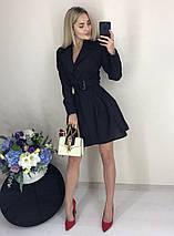 Платье с запахом и поясом ft-420 (S-M, разные цвета), фото 2