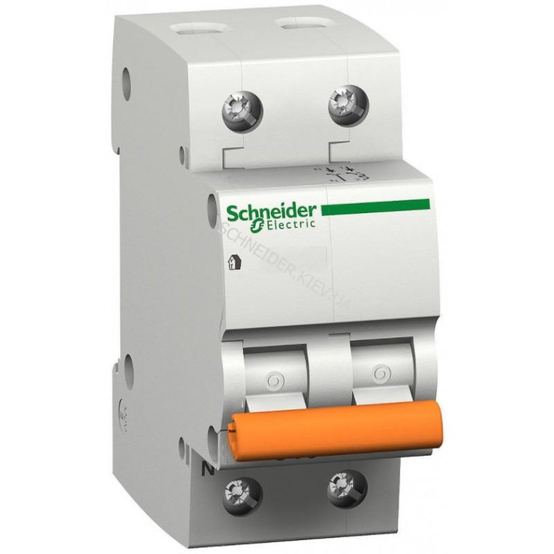 Автоматический выключатель ВА63 1П+Н 25A C Schneider Electric 11215