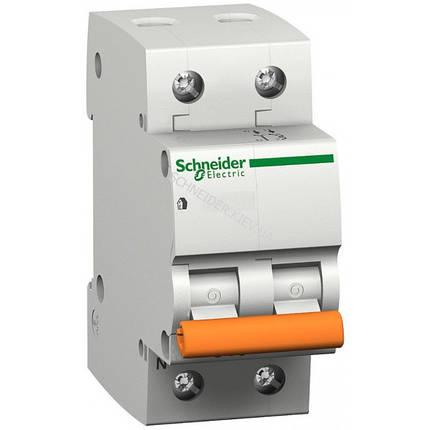 Автоматический выключатель ВА63 1П+Н 25A C Schneider Electric 11215, фото 2
