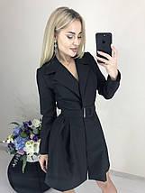 Короткое платье с запахом и поясом ft-420/разные цвета, 42-46, ft-420/, фото 3