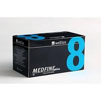 Универсальные иглы Wellion MEDFINE plus для инсулиновых шприц-ручек 8мм (31G x 0,25 мм), фото 1