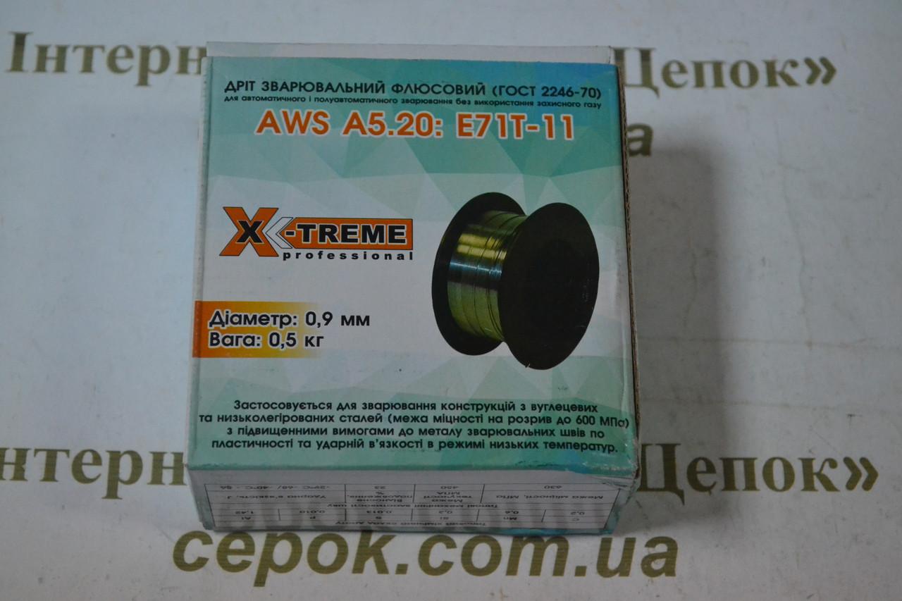 Зварювальний дріт Флюсовий X-Treme Е71Т-11 0.9 мм 0.5 кг