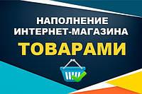 Наполнение интернет магазина товарами