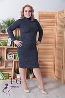 Платье-гольф из ангоры большого размера . Темно-синий