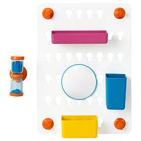 IKEA LADDAN (203.242.92) одвесной модуль для душової, з присосками, різними квітами, різними кольорами