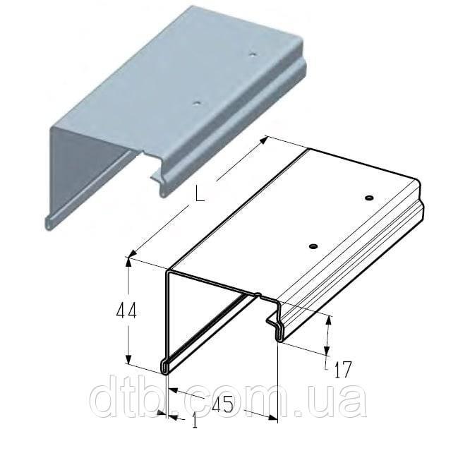 Профиль концевой верхний PRG-15 Alutech
