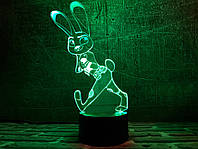 """Детский ночник - светильник """"Джуди Хопс"""" 3DTOYSLAMP, фото 1"""
