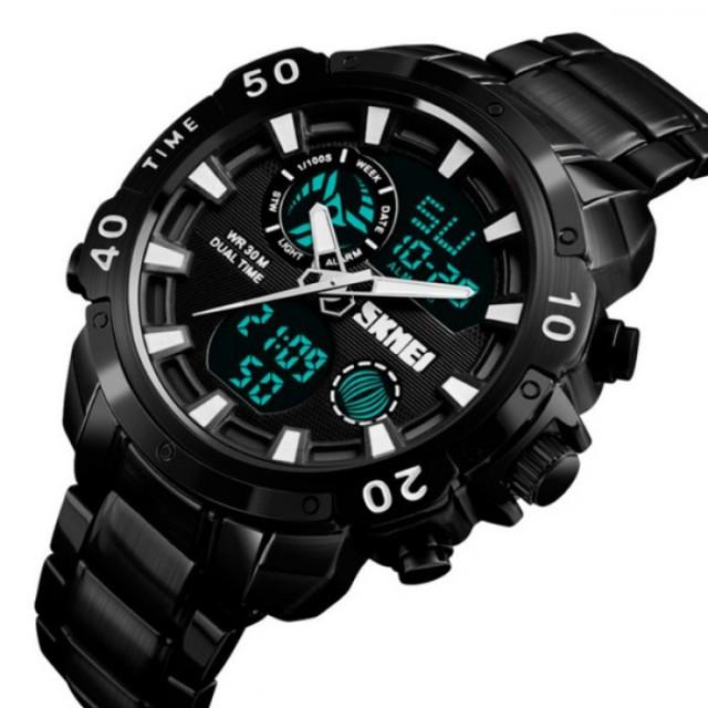 Мужские наручные часы Skmei 1306 Steel Black-White