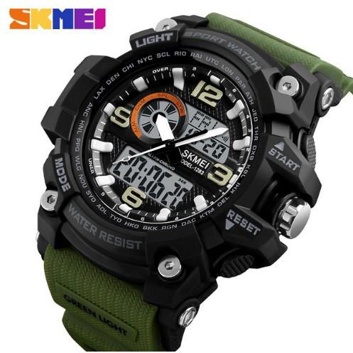 Мужские наручные часы Skmei 1283 Black-Military Wristband