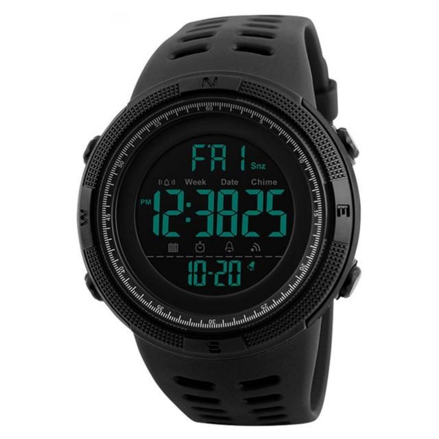 Мужские наручные часы Skmei 1251 Black-Silver