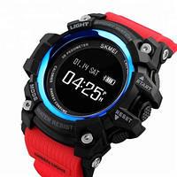 Мужские наручные часы Skmei 1188 Black-Blue Red Wristband