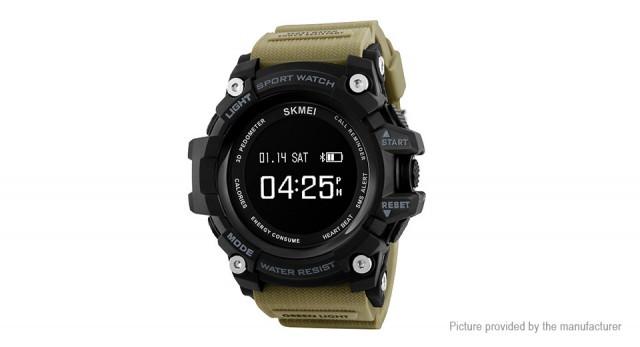 Мужские наручные часы Skmei 1188 Black-Khaki Wristband