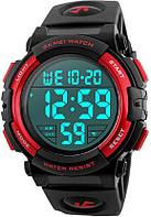 Мужские наручные часы Skmei 1258 Black-Red