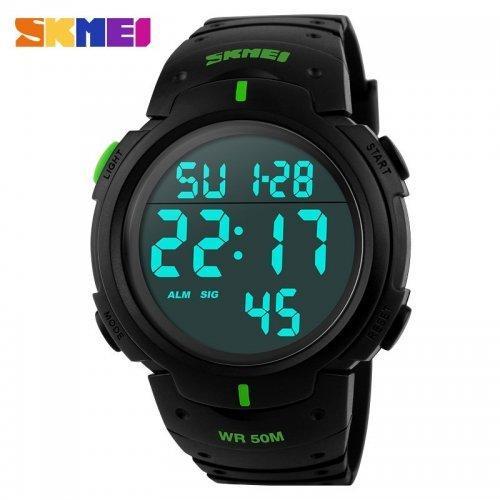 Мужские наручные часы Skmei 1068 Black-Green