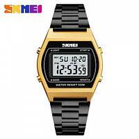 Мужские наручные часы Skmei 1328 Black-Gold-Black