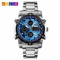Мужские наручные часы Skmei 1389 Silver-Black-Blue
