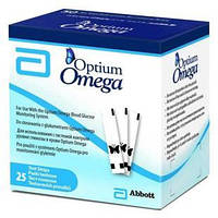 Tест-полоски Optium Omega, 25 шт.