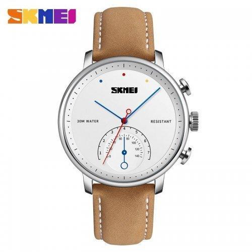 Мужские наручные часы Skmei 1399 Brown-Silver-White