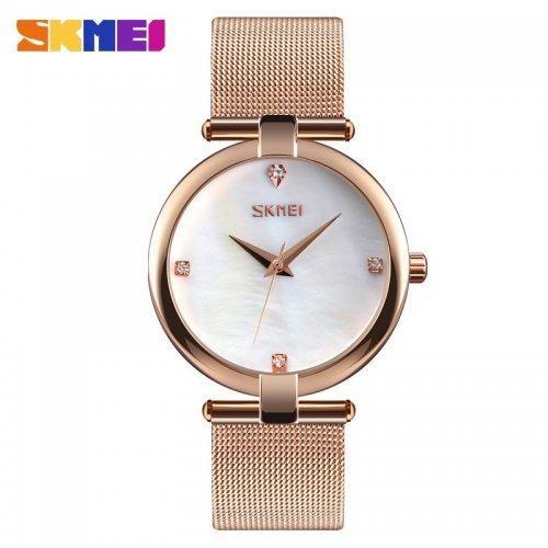 Женские наручные часы Skmei 9177 Cuprum-White