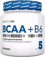 Аминокислоты Nutricore BCAA + B6,  220 tabl