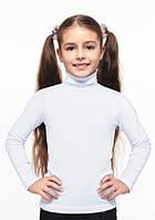 Дитячий і підлітковий гольф-стійка для дівчинки білий 134, 152, 158 см