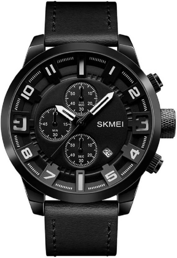 Мужские наручные часы Skmei 1309 All Black-White