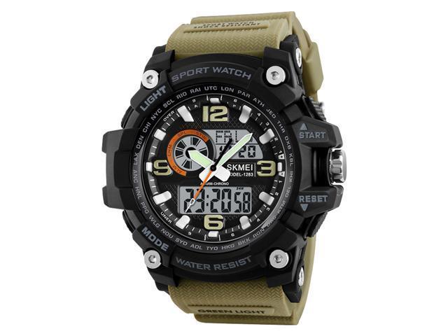 Мужские наручные часы Skmei 1283 Black-Khaki Wristband